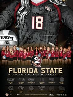 "FSU Volleyball on Twitter: ""OFFICIAL🔥TEAM🔥POSTER🔥HAS🔥ARRIVED🔥🔥🔥🔥🔥 Who wants one? 😏 #GoNoles 