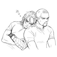 """""""Bucky, if you drool on me, swear to God--"""" """"Zzzz"""" *drools* """"I hate you"""""""