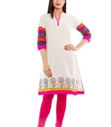 Buy Straight Khadi Warli Print Kurta kurtas-and-kurti online