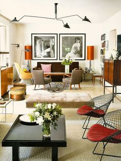 eclectic decor, pops of color