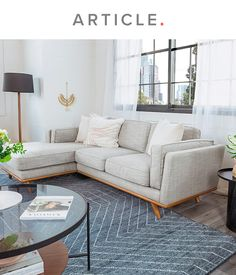 Living Room Redo, Living Room Sectional, Boho Living Room, Cozy Living Rooms, Living Room Designs, Home And Living, Small Space Sectional, Sectional Sofas, Comfortable Sofa