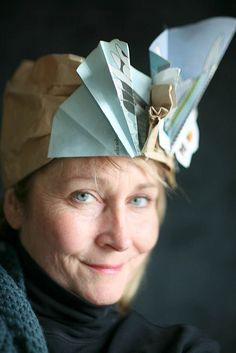 Beautiful paper hat by Alyn Carlson