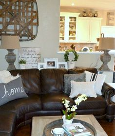 47 best decorating with brown sofa images diy ideas for home rh pinterest com