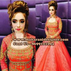 #IndianWeddingReceptionOutfits #BridalReceptiondresses #GownForReceptionpartyOnline #WeddingReceptiongown Maharani Designer Boutique  To buy on this Link http://maharanidesigner.com/Anarkali-Dresses-…/bridal-gowns/ Rs - 18500 Hand work  Available in All Colors Fine Quality fabric  For any more information contact on WhatsApp or call 8699101094 Website www.maharanidesigner.com