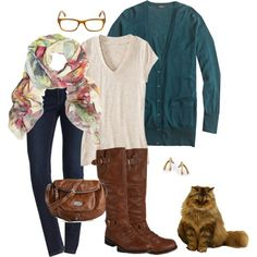 """""""what I wore 10/23/2013"""" by jenna-smalls on Polyvore fall outfit idea"""