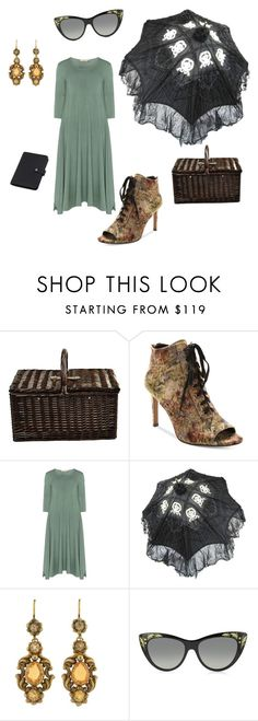 """""""Meadow Stroll"""" by zandrasmyth ❤ liked on Polyvore featuring Picnic at Ascot, Nanette Lepore, Isolde Roth, Gucci, Mulberry and vintage"""