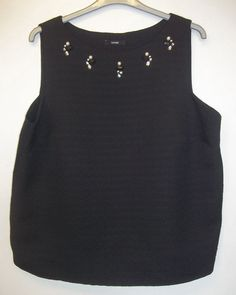 GEORGE BLACK EVENING CRYSTAL VEST SIZE 22 - NEW & UNWORN #George #OtherTops #Party