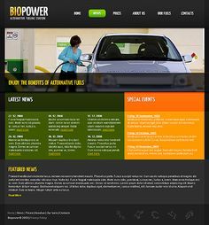 Biopower Alternative Website Templates by Hugo
