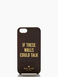 what would they say? — the if these walls could talk iphone 5 case by kate spade new york (may 2014)