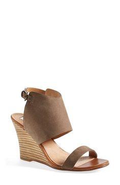 Halogen® 'Clarette' Suede Wedge Sandal (Women) | Nordstrom. Love them, so comfy!