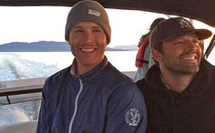 Supernatural: Jensen Ackles and Misha Collins on a boat after Teen Choice Best Chemistry win | EW.com