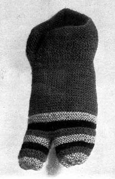 Knit children's sock, 4th century AD.