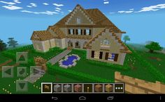 Minecraft wooden house build of the large modern house - # idea :-) Minecraft Wooden House, Minecraft Houses For Girls, Minecraft Houses Xbox, Minecraft Houses Survival, Minecraft Houses Blueprints, House Blueprints, Minecraft Buildings, Minecraft Mansion, Minecraft Mods
