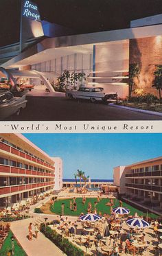 Beau Rivage Resort Motel - Miami Beach, Florida This was next to the Ivanhoe, where my dad was manager for 18 years.