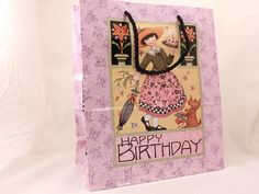 MARY ENGELBREIT Gift Bag 12.5x10.5x5 by Sunrise. Happy