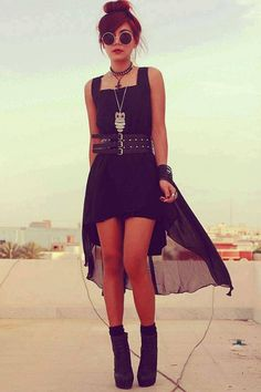RoCK! Sheer dress black sunglasses