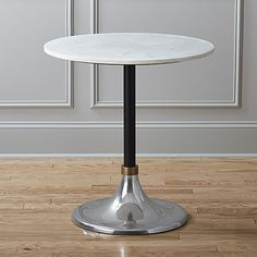 On sale. Marble-topped bistro table plays it smooth—and versatile—in small spaces. Dines four in the kitchen, sides up to the sofa, or rests easy as a bedroom nightstand. Whitewash Dining Table, Grey Dining Tables, Furniture Dining Table, Kitchen Furniture, Lobby Furniture, Accent Tables, Small Tables, Accent Furniture, Wood Table