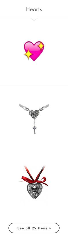 """Hearts"" by awesome-lyk-that ❤ liked on Polyvore featuring emoji, jewelry, necklaces, locket jewelry, locket necklace, pendants, heart jewellery, heart locket, heart shaped locket and heart jewelry"