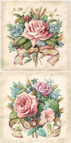 Vintage flowers frame decoupage Super ideasYou can find Vintage roses and more on our website. Floral Vintage, Vintage Diy, Shabby Vintage, Vintage Labels, Vintage Cards, Vintage Paper, Vintage Flowers, Vintage Ideas, Decoupage Vintage