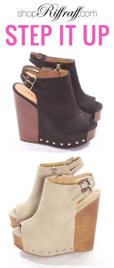 Jeepers Wedges! shopriffraff.com #shopriffraff #shoes