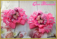 Baby Hair Clips, Hair Bows, Bow Tutorial, Girls Bows, Ribbon Bows, Gift Wrapping, Accessories, Beautiful, Hair Accessories