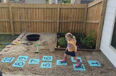 simple backyard hopscotch