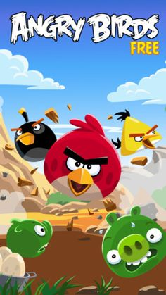 angry birds app.  So it's the most overplayed game ever, but it was brilliant and we all spent hours trying to beat it.
