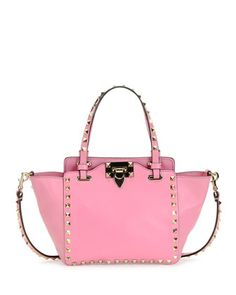 Rockstud Micro Mini Tote Bag, Pink by Valentino at Neiman Marcus.