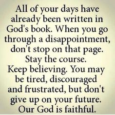 This is so amazing to think about when you put it in perspective. god loves us SO much that He already has every detail planned out in our lives. We, as believers, just have to have faith and trust in Him to allow us to do the things He has planned! Good Quotes, Quotes To Live By, Me Quotes, Inspirational Quotes, Motivational, Religious Quotes, Spiritual Quotes, Faith Quotes, Bible Quotes
