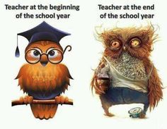 A tanárok a tanév elején... ... és a tanév végén.