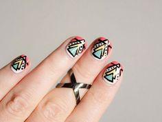 Diseños de uñas tribales faciles, . Clic Follow, Unete al CLUB #uñasbonitas #nails #uñasdiscretas