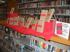 "Banned Books Display | My annual ""banned books"" display 
