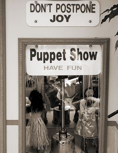 Puppet Show by Joseph Russell, via Flickr