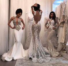 ....✨ Pinterest : @seaairraw ✨ Diamond Wedding Dress, Diamond Dress, Luxury Wedding Dress, Dream Wedding Dresses, After Prom Outfit, Beautiful Mermaid, Beautiful Gowns, Most Beautiful Wedding Dresses, Glamour Dresses