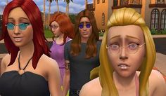 The Sims 4   Small Round Glasses and Shades   CAS accessory new mesh for female and male adult