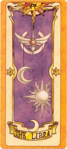 This is The Libra Clow Card from the Card Captor Sakura anime and manga series by CLAMP