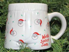 Papel Vintage 90's World's Sexiest Santa Boxer Short Underwear Ceramic Gift Mug | eBay