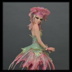 The Jellyfish Queen ooak art doll mermaid by Candace Taylor cbcstudio