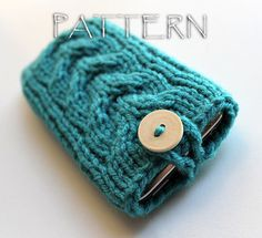 Pattern Knitted iPhone iPod Cover Sleeve. $3,50, via Etsy.