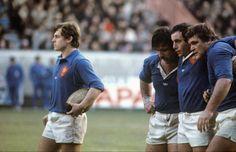 1978 : Gallion à l'abordage Pour remplacer Fouroux, les sélectionneurs lancent Jérôme Gallion, ici devant Paparemborde, Paco et Cholley, une première ligne de fer. Pour ses débuts, le véloce varois inscrit un essai. Victoire française au Parc des Princes, 15-6. (L'Equipe)