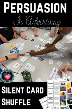 Silent card shuffle- students match devices, definitions and examples in advertising. Get the kids up and moving having fun while learning! Education And Literacy, Primary Education, Cooperative Learning, Learning Games, Back To School, High School, Teaching Secondary, English Activities, Australian Curriculum