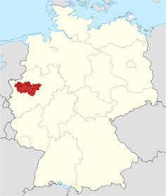 Karte Ruhrgebiet.Deutschland Karte Mit Hervorgehobenem Ruhrgebiet Oberhausen Und