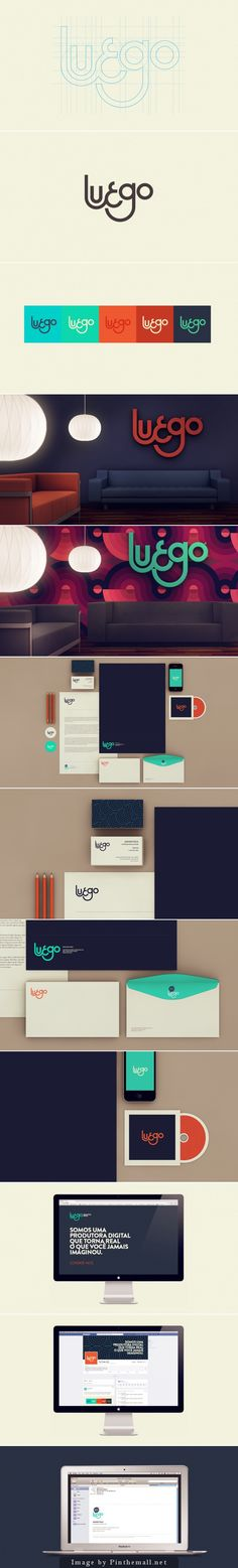 Luego by Isabela Rodrigues – corporate branding identity Brand Identity Design, Corporate Design, Graphic Design Typography, Branding Design, Corporate Identity, 2 Logo, Logo Branding, Web Design, Logo Image