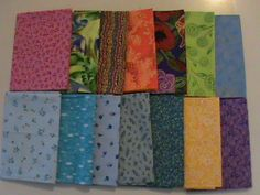 Ten piece fabric remnants sewing crafting quilting