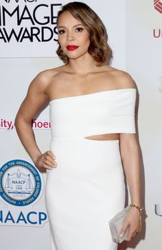 Carmen Ejogo wore the HOL Paradise Collection Sunset Tassel bracelet to the NAACP Awards