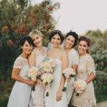 Mismatched Bridesmaid Dresses 101 - apracticalwedding breaks down different approaches to doing the mismatched bridesmaids thing