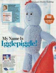 Knitting Pattern Iggle Piggle : 1000+ images about Arts, crafts and activities on ...