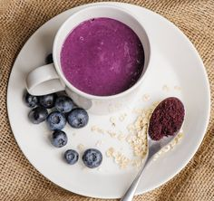 A refreshing breakfast that's loaded with goodness and provides 2 of your 5 a day. this super simple bilberry bliss makes in fact a perfect meal any time of the day and is guaranteed to fill you up. Dried Berries, Taste Buds, Super Simple, Recipe Using, Superfood, Great Recipes, Berry, Smoothies, Bliss