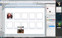 step 5 Photoshop Tutorial- Polaroid Magnets [template using photoshop]  •Open the downloaded Polaroid file in Photoshop, along with the photo you want to use. Using the Rectangular Marquee Tool (circled in orange), create a box around the portion of the image you want in the frame. •Click on the Move Tool (circled in black). You can use this to drag your selected image over onto the Polaroid template. •Your image might be a lot bigger than the template. Still using the move tool, drag the image down and over until you find a corner. •Click on the little square that will be at the corner of your image. Drag down diagonally to re-size the picture. (If there is no square or box around your image, click on the Marquee Tool again, right click the image, then click Free Transform). •Continue to move and size until your image is lined up and sized to the Polaroid frame. •Once you have your image centered, click away from the template (onto any other tool in the sidebar) and it will ask you if you want to apply the transformation. Click Apply. •Once you've filled all of your frames, print them off and finish making your magnets!