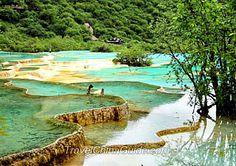 Multi-Color Pond, Sichuan Province, Jiuzhaigou County, China